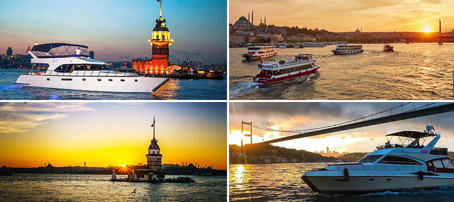 sunset boat tour istanbul